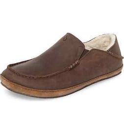 Olukai 10252 6363 Moloa Slipper Dark Wood Men's Beach Shoes