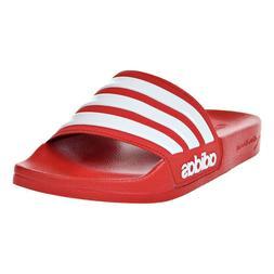 Adidas Adilette Cloudfoam Mens Slides Scarlet-White AQ1705