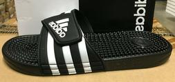 ADIDAS adissage Men black White Sandals Slippers F35580 Fast