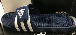ADIDAS adissage Men Dark Blue/White Sandal Slippers F35579 F