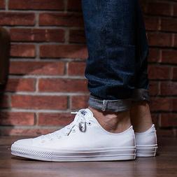 NEW Converse Chuck Taylor II 2 Lunarlon Low White Men's Shoe