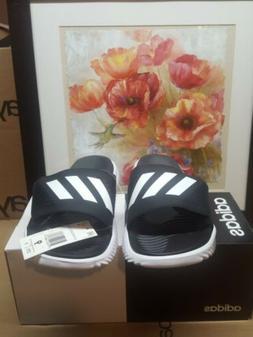 Adidas Alphabounce Slide Sport Slides Black & White Slippers
