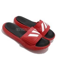adidas Alphabounce Slides Red White Black Men Sports Sandals