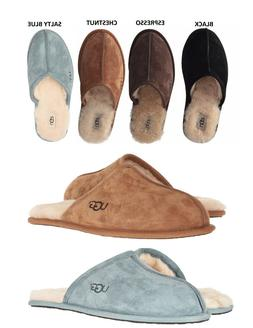Authentic UGG Mens Scuff Slipper Shoes Black Chestnut Espres