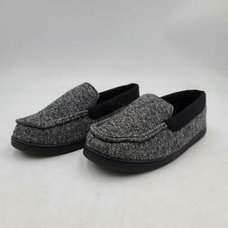 Hanes Boy's Marled Knit Venetian Moccasin Slippers Shoe, 5-6
