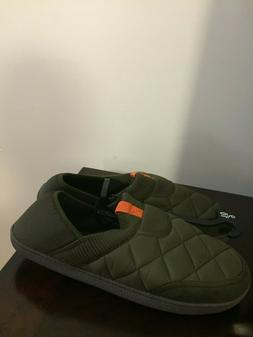 BRAND NEW MEN'S SIZE 9-10 OLIVE GEORGE SLIPPERS