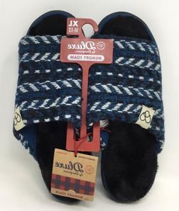 Dearfoams Dluxe Memory Foam Men's Slippers Blue Size XL/11