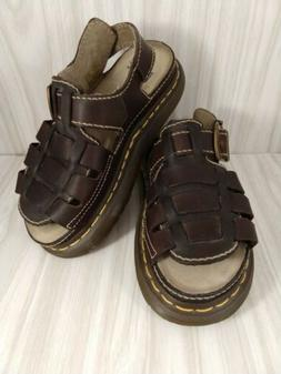 Dr. Doc Martens Brown Leather Air Wair Fisherman Sandals Siz