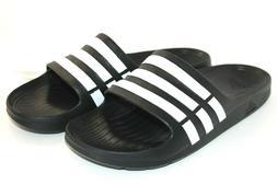 adidas Duramo Slide Sandal,Black/White/Black,11 M US