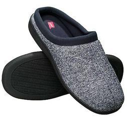 Hanes Men's Memory Foam Indoor Outdoor Clog Slipper Shoe wit