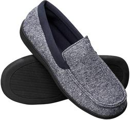 Hanes Mens Slippers House Shoes Moccasin Comfort Memory Foam