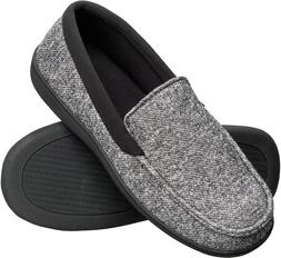 Hanes Men's Slippers House Shoes Moccasin Comfort Memory Foa
