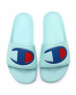 Champion IPO C Logo Slides Sandals Waterfall Green Blue Red