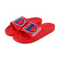 Champion Ipo CM100076M Mens Red Slip On Slides Sandals Shoes