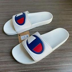 Champion IPO White Sandals Slides Slippers Men's size 12