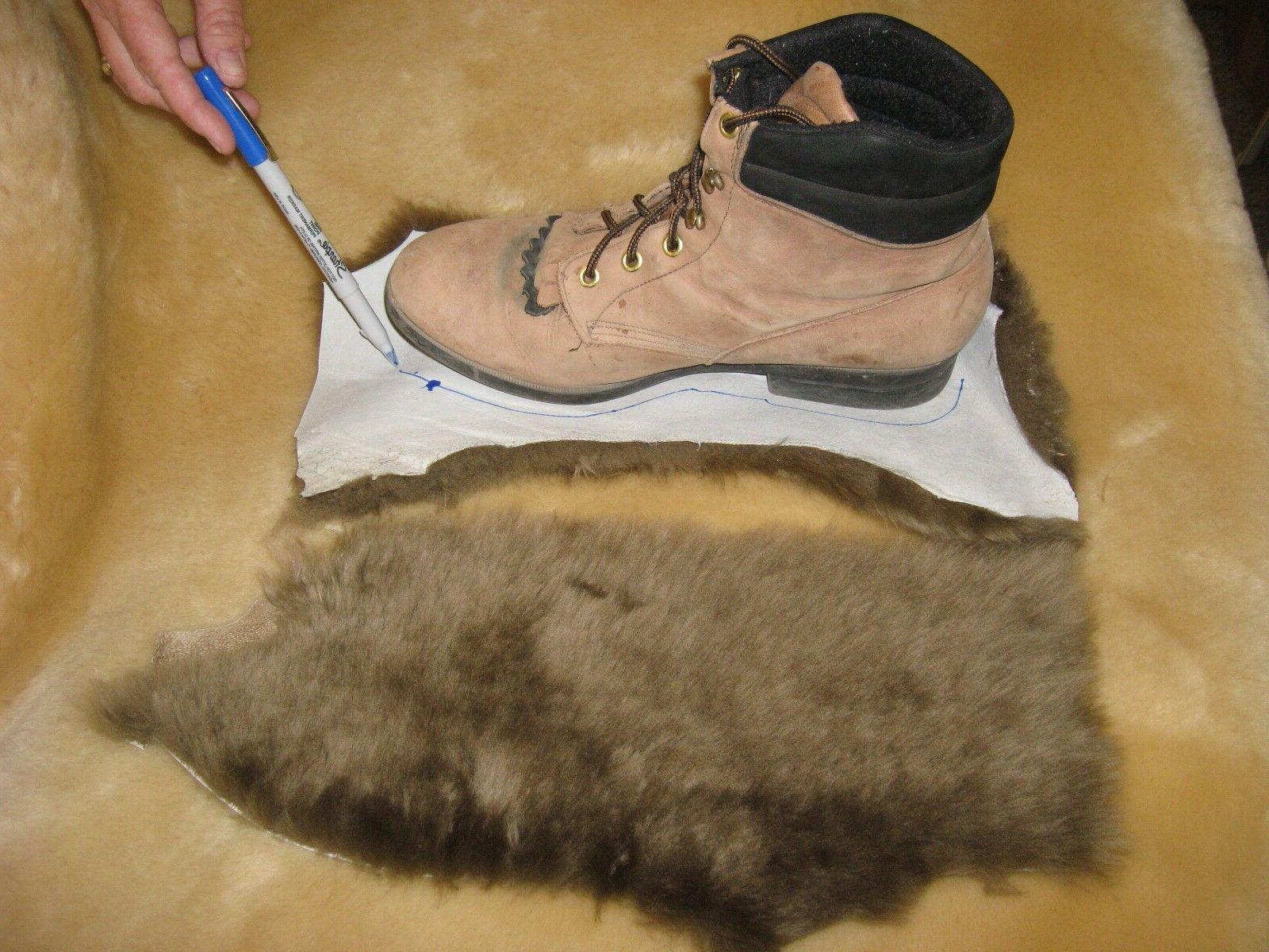 4 Brown Merino Sheepskin Pads Shoe Inserts Reline UGGs Slipp