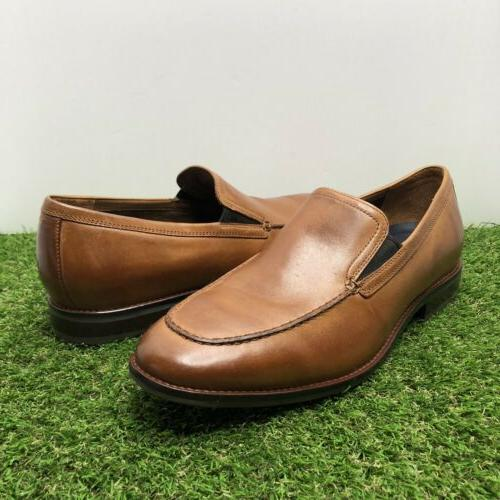 COLE HAAN Venetian Brit Tan Leather Loafer Shoes 11