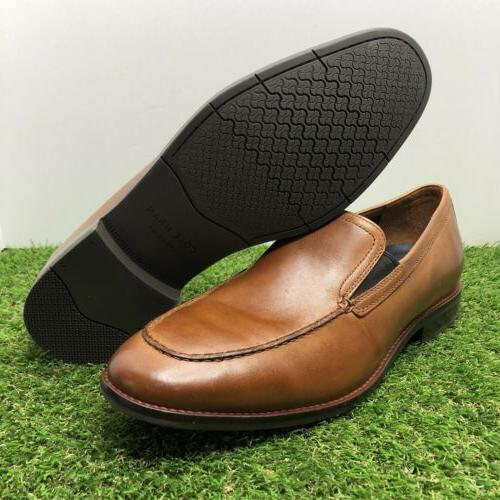 aerocraft grand venetian brit tan leather loafer