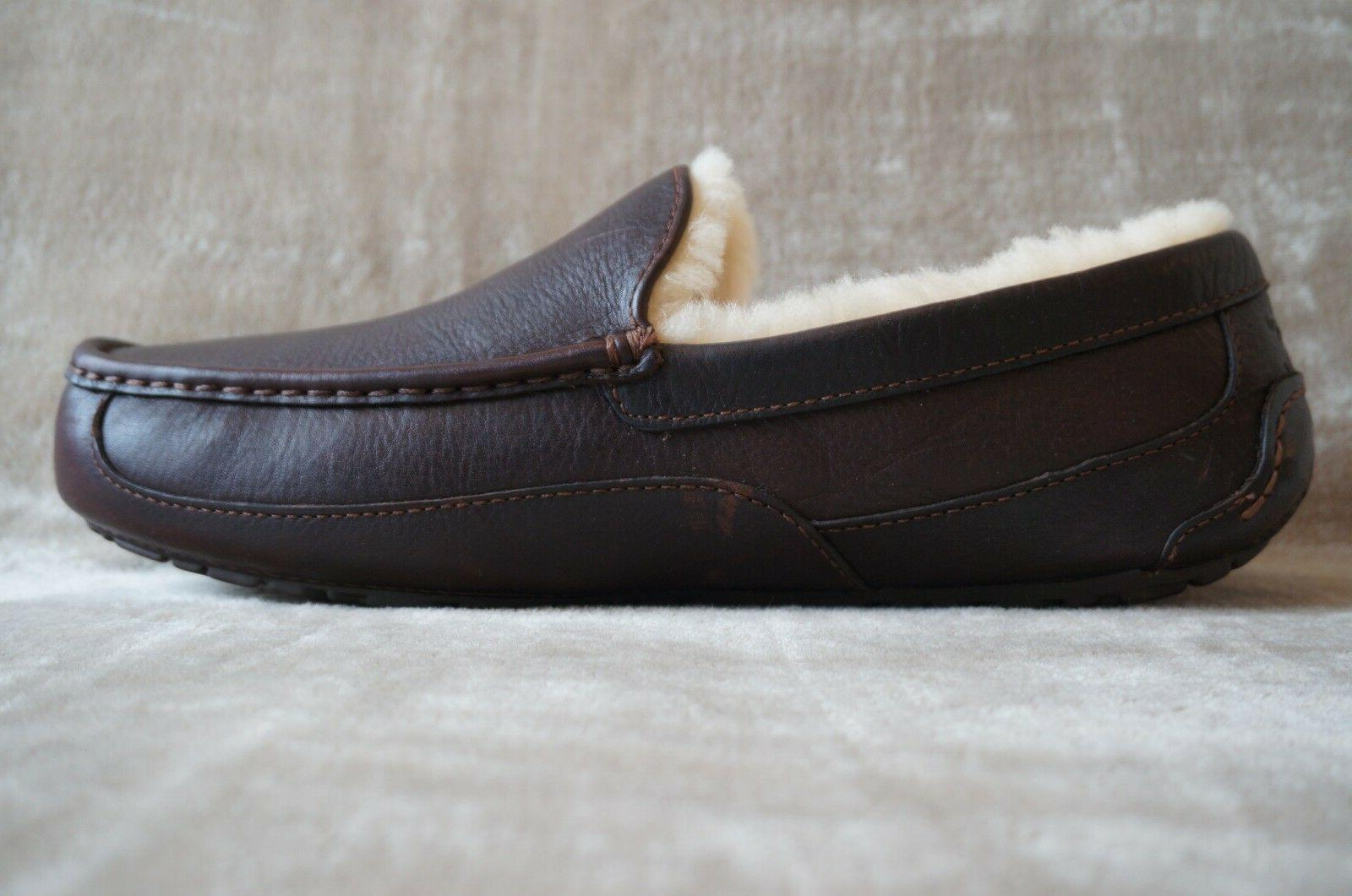 UGG ASCOT LEATHER SLIPPERS 10 WIDE CHINA