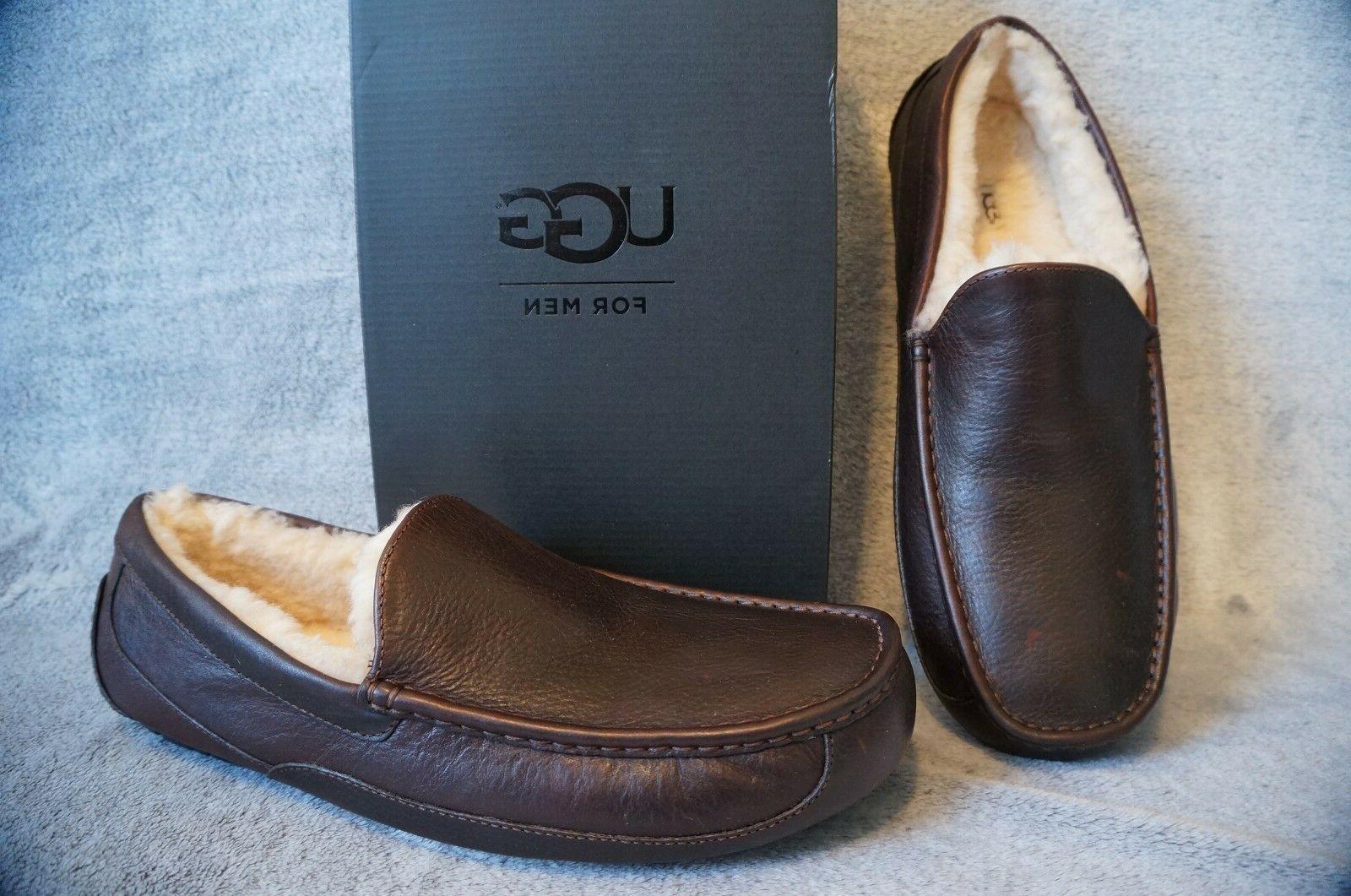 ascot leather grain slippers us 10 eee