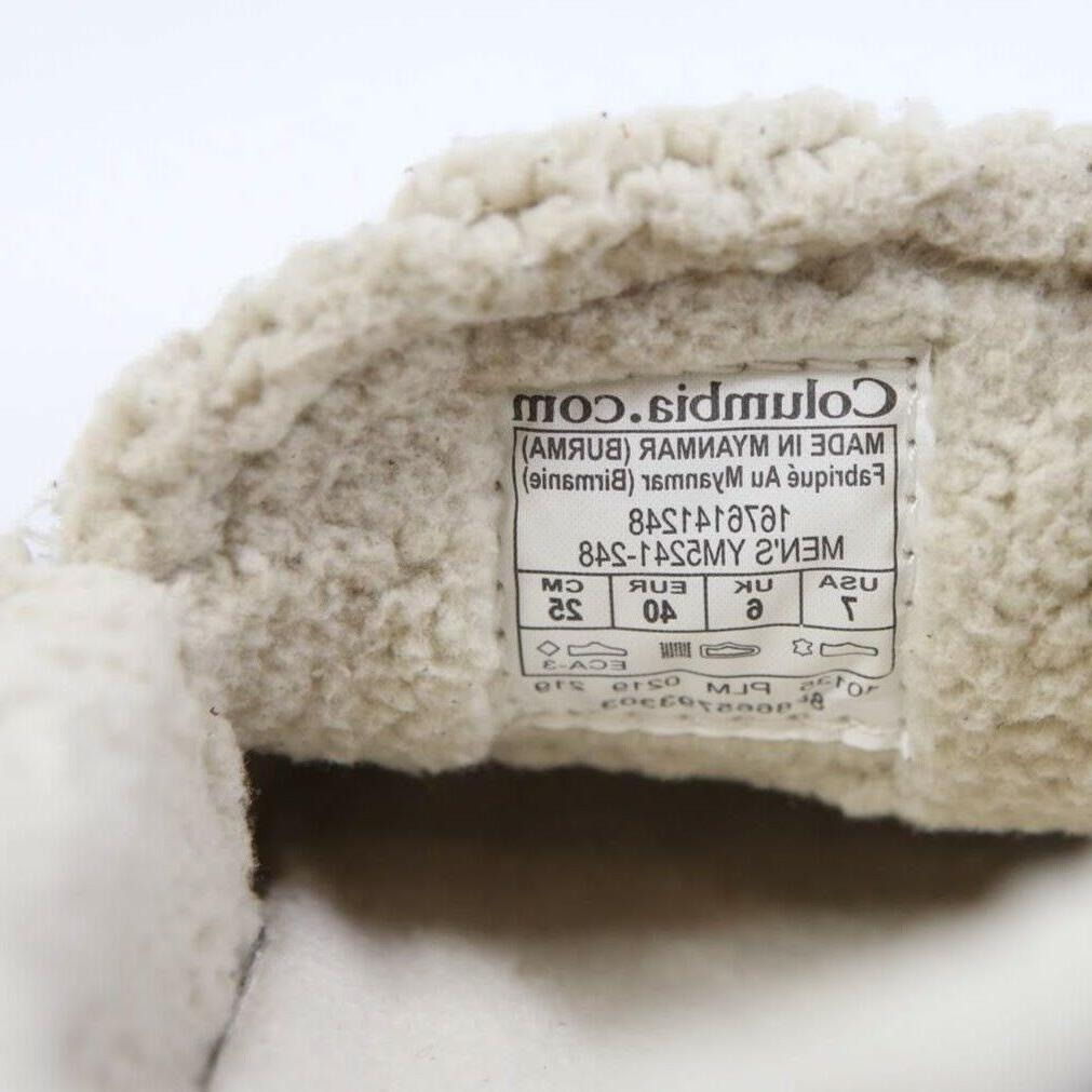 Columbia Big Sky Mocassin Wool Suede Indoors Slipper Mens Dark