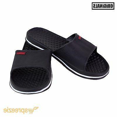 Black Men's Sandals Shoes Slip On Footwear New