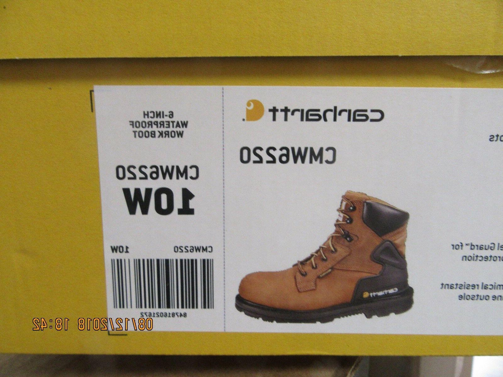 "Carhartt Boot CMW6220 6"" Bison Steel 12"
