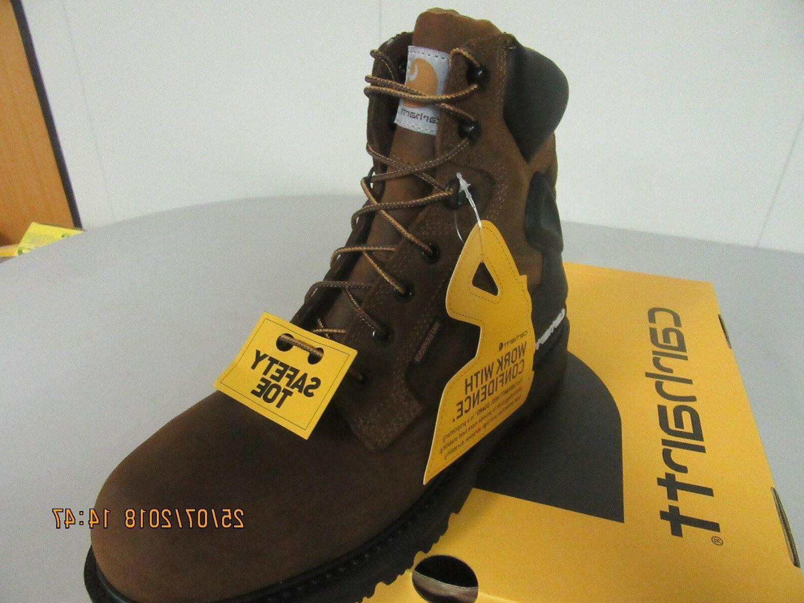 """Carhartt CMW6220 6"""" Brown Waterproof, Steel Toe 12"""