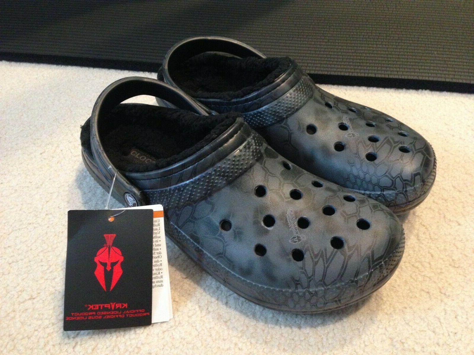 classic kryptek typhon fuzz lined clog slippers