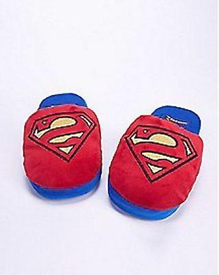 DC COMICS SUPERMAN LOGO PLUSH Slippers SIZE MEDIUM