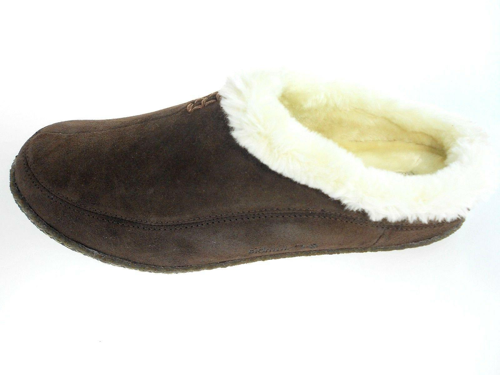 COLUMBIA DUNMORE HILL BROWN FAUX FUR SLIPPERS, #YM1405-248