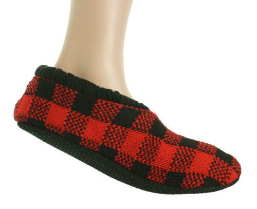 Polar Extreme Insulated Fleece Slippers Checkered