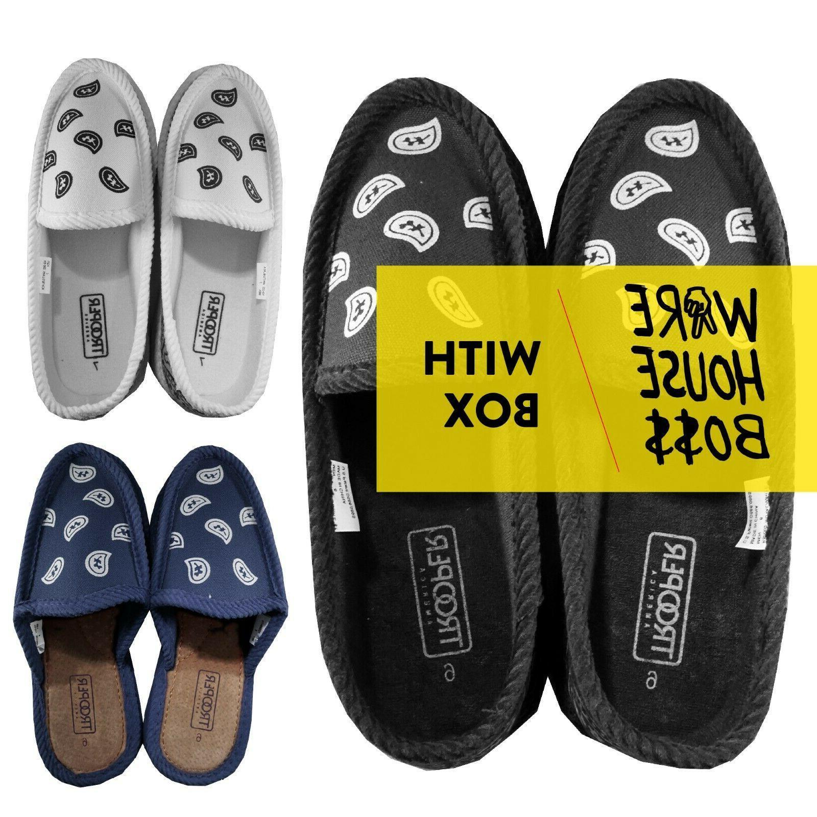 house shoes plain paisley bandana design slipper