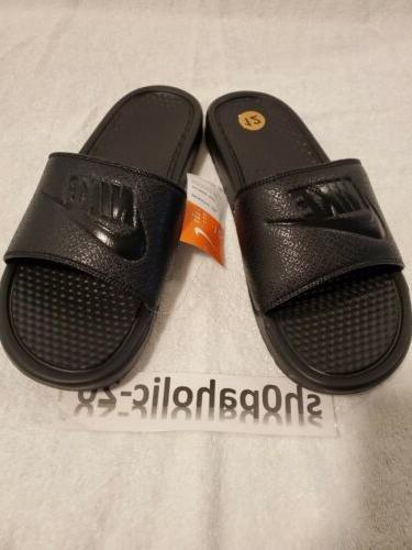 Nike Benassi Slides Black/ Black-Black sz 12 343880-001