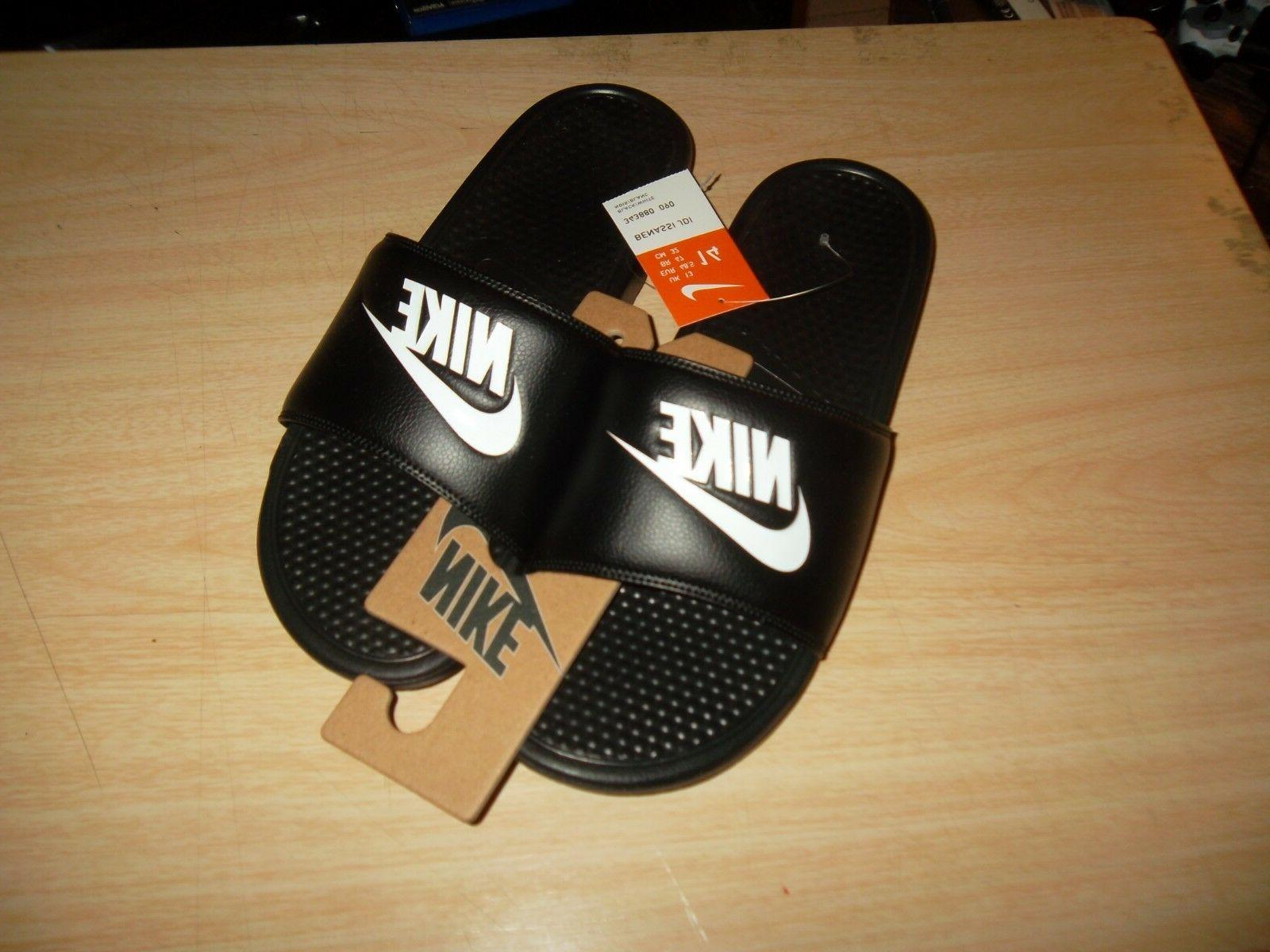 men benassi jdi black slide slippers size