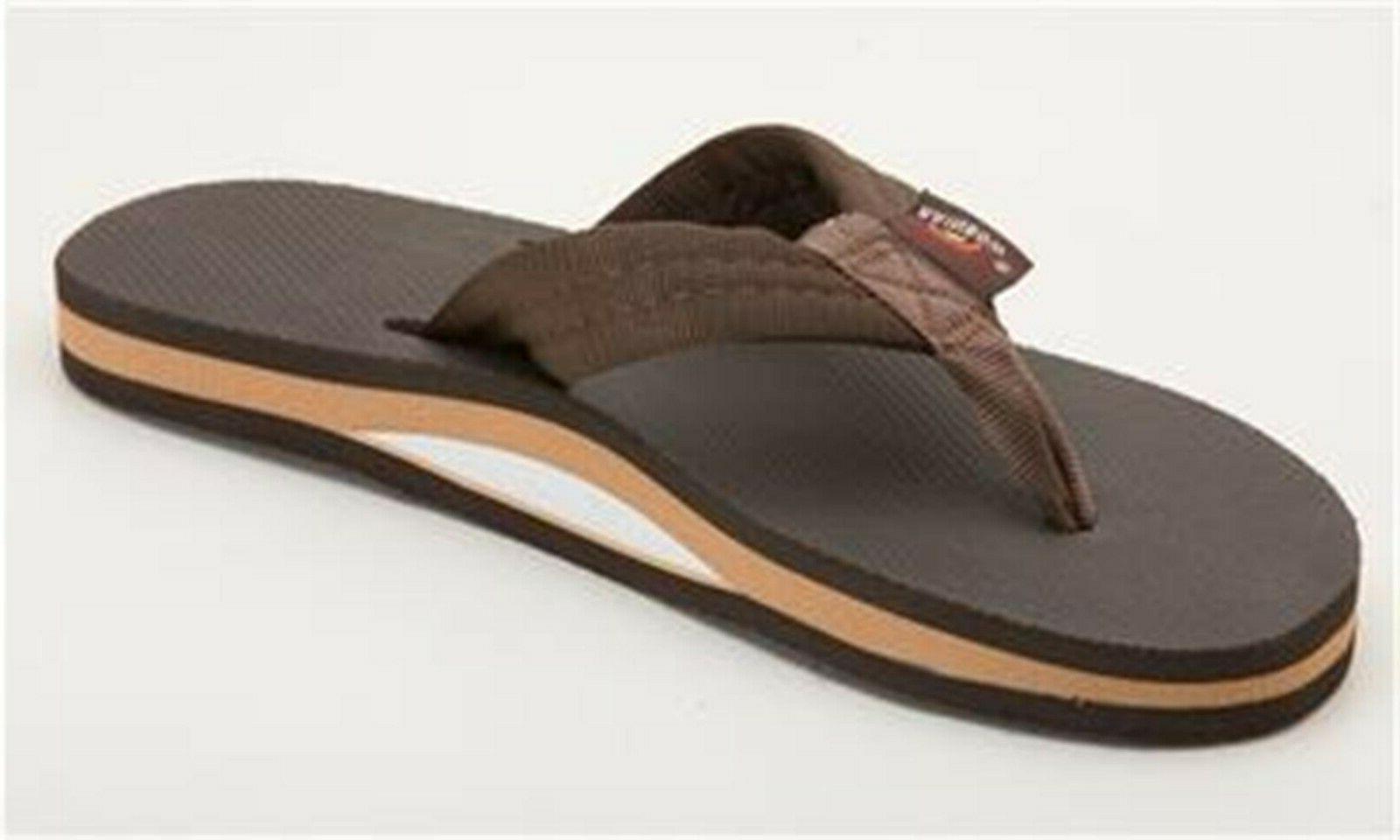 Men Rainbow Classic Flip Flop Sandal Rubber Single Layer 301