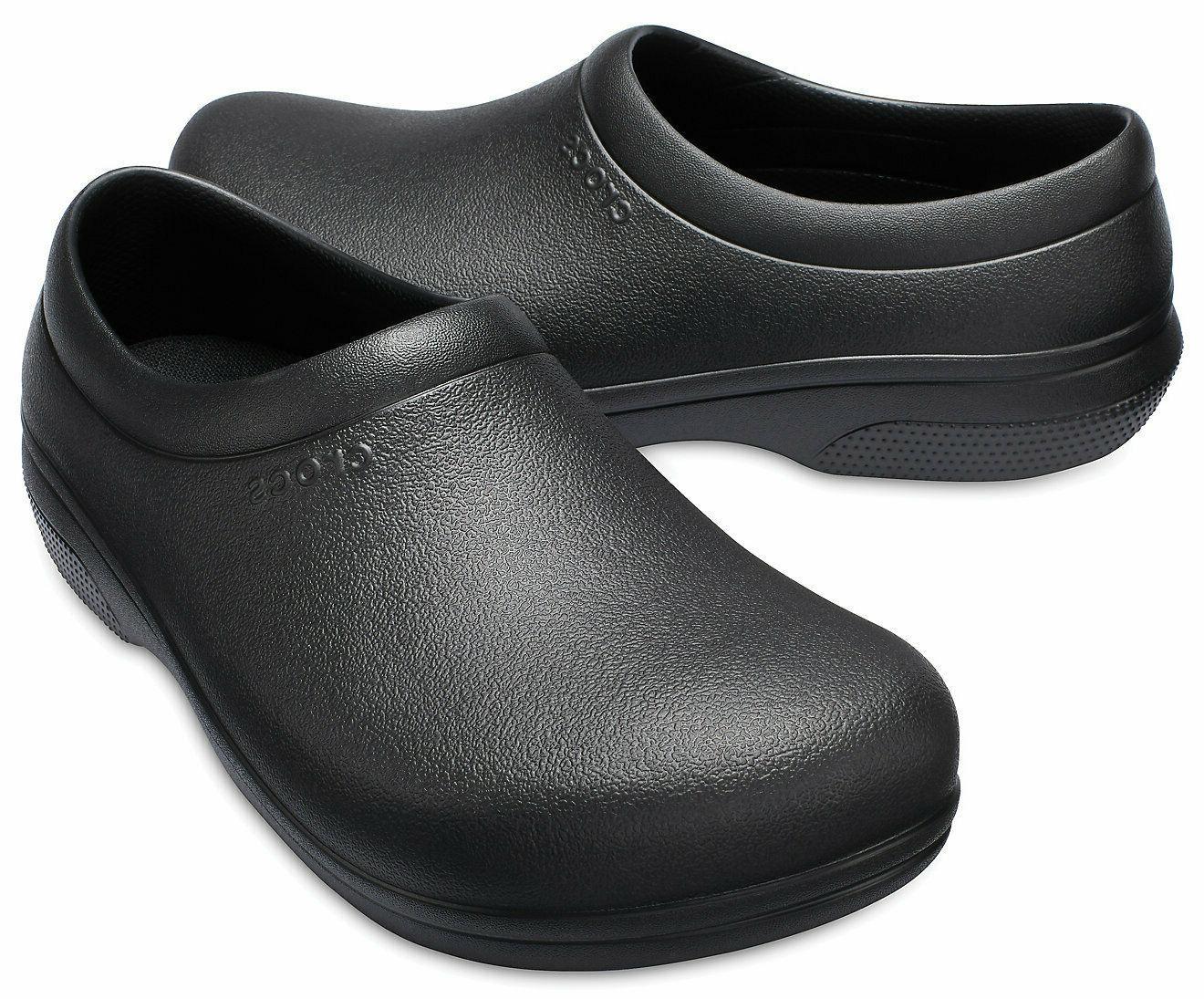 Crocs Women's On-The-Clock Slip Resistant Proof Shoe
