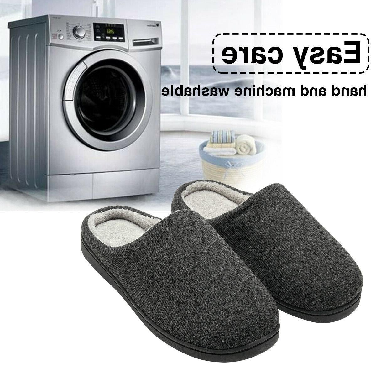 Men's Cozy Winter Slippers Knitted Cotton