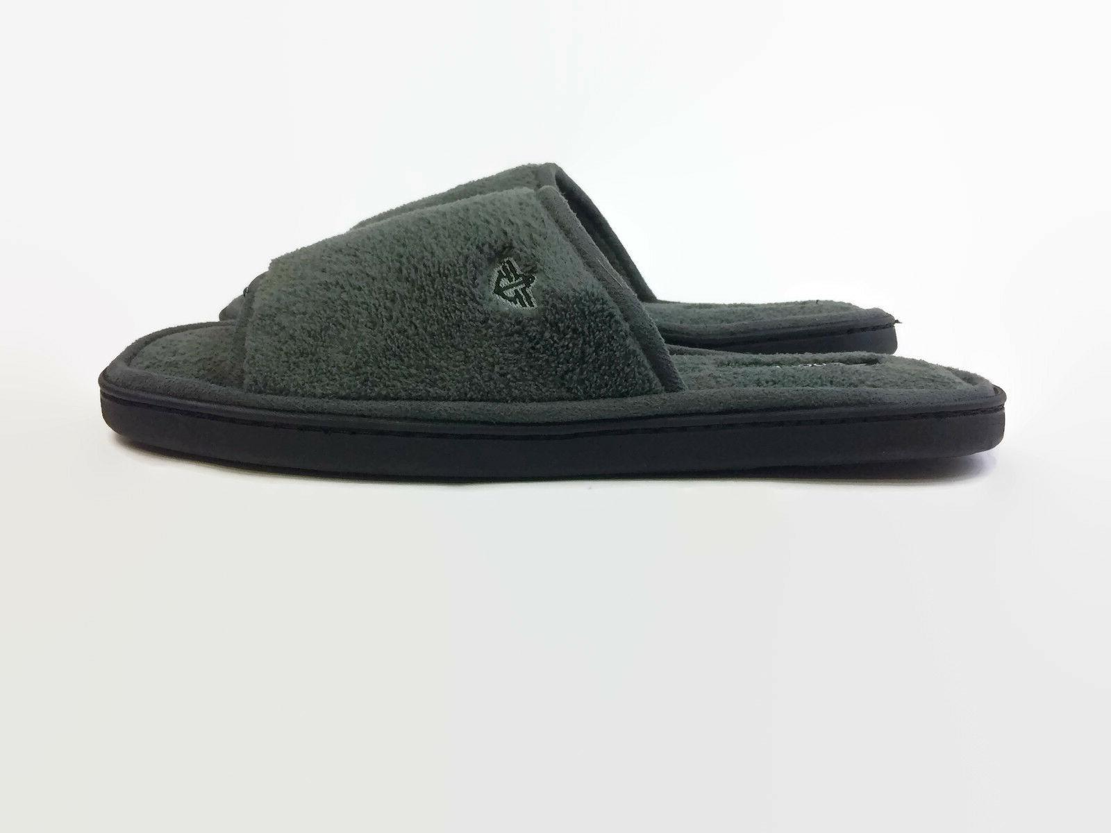 Dockers Men's Terry Slide Slippers with Memory Foam