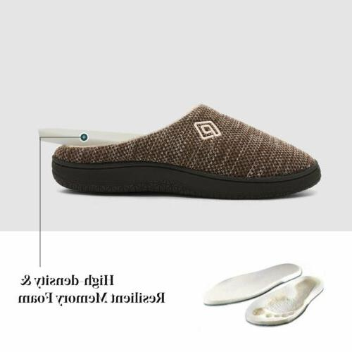 Men's Memory Slippers Plush House Shoes