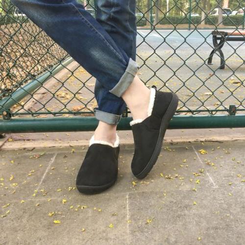 Men's Memory Wool-Like Comfortable Home Shoes Anti-Skid