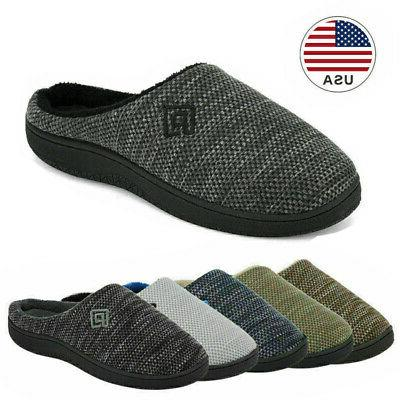 men s memory foam slippers comfort knitted