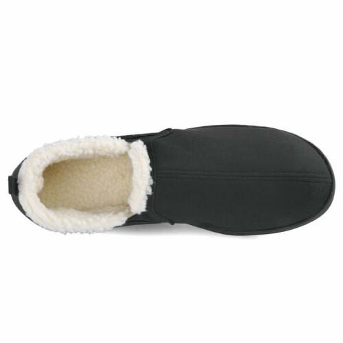 Men's Memory Slippers Wool-Like Plush House Shoes