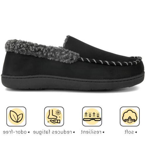Men's Comfort Memory Moccasin Fleece Warm Home Shoes