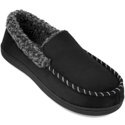 men s comfort memory foam moccasin slippers