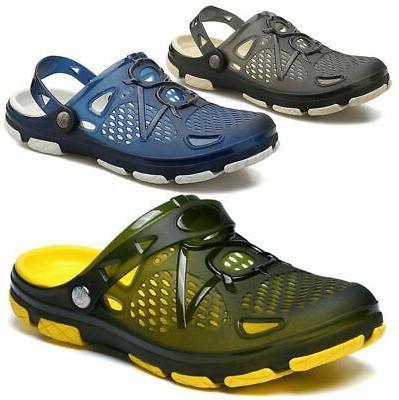 Men's Slip on Garden Shoes Mules Clogs Flat Sports Sandals B