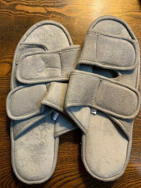 men s slippers adjustable open toe soft