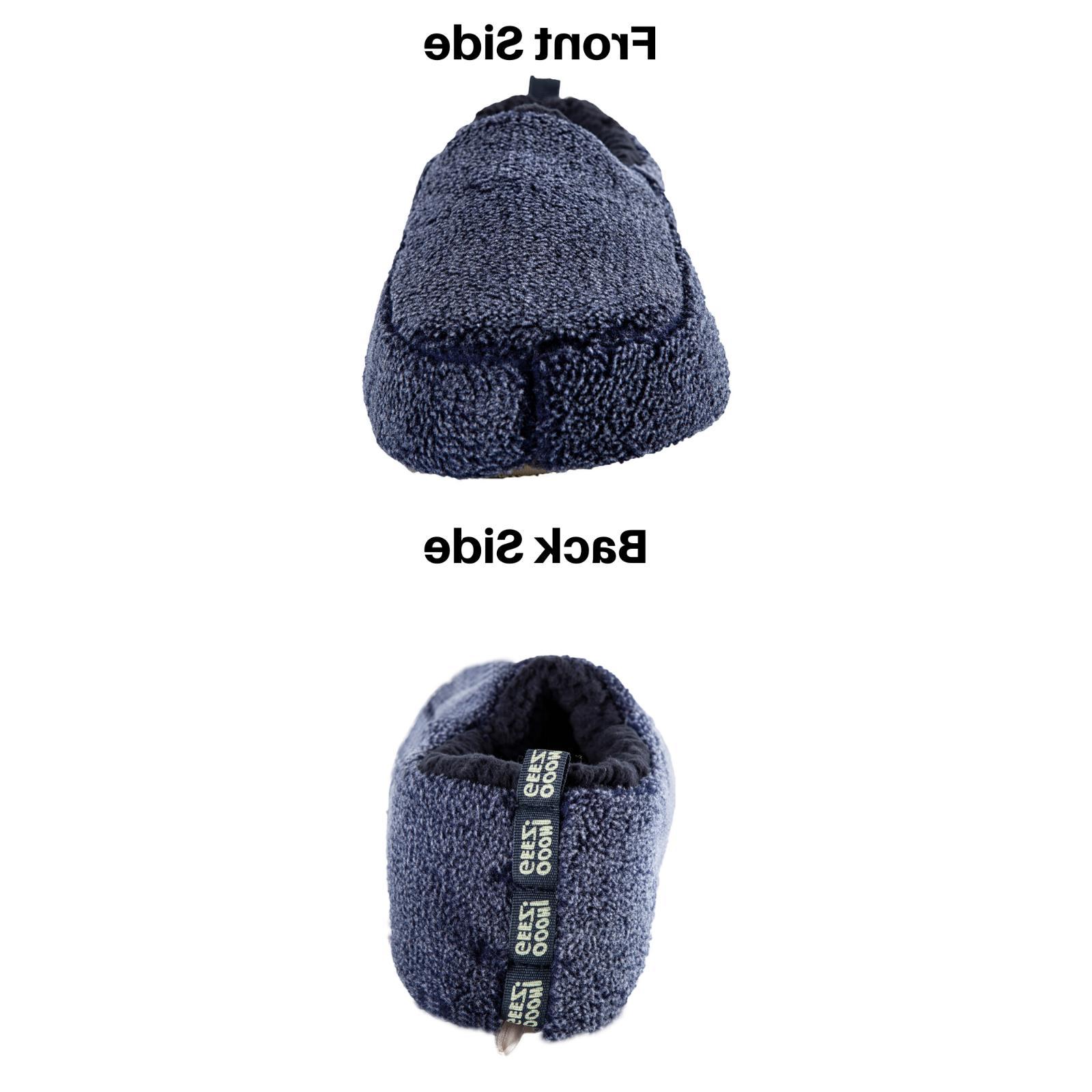 Men's Slippers Cozy Comfort Fuzzy Fluffy Indoor Warm Anti-Skid