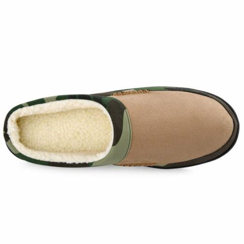 Men's Slippers Memory Fleece House Camouflage