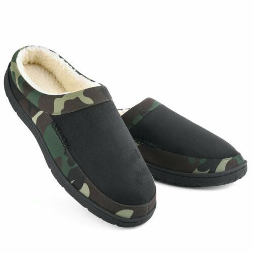 men s slippers memory foam fleece slip